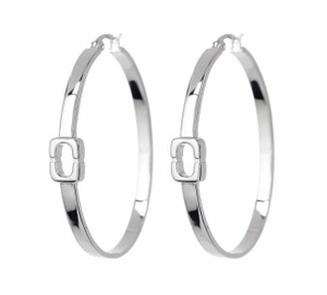Diane von Furstenberg New DVF Oval Chain Link Hoop Earrings, DV00264-E02