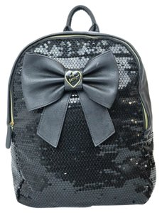 Betsey Johnson Sequin Bow Gold Hardware Backpack