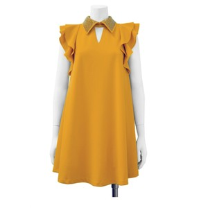 Gracia short dress Mustard on Tradesy