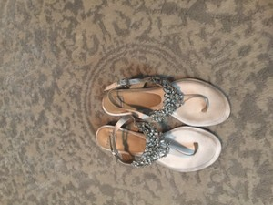 Anthropologie Crystal Pool Sandal Ivory Wedding Shoes