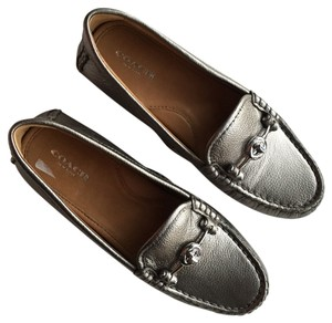 Coach pewter silver Flats