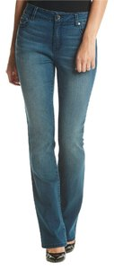 Nine West Straight Leg Jeans-Medium Wash