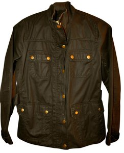 J.Crew Military Cotton Machine Washable Gold Buttons Military Jacket
