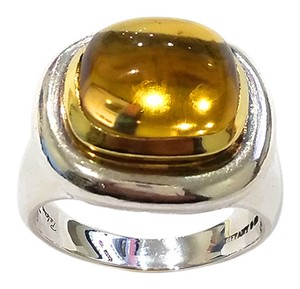 Tiffany & Co. Tiffany & Co PALOMA PICASSO Sterling Silver & 18K Gold Citrine Ring