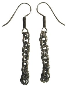 NEW Handmade DOUBLE LINK Chain Dangle EARRINGS Vintage Upcycled Buy3Get1FREE!