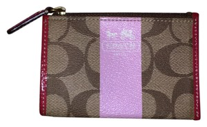 Coach Wristlet in Brown and Pink