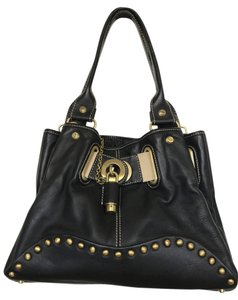 Francesco Biasia Lined Lock Hobo Bag