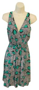 Diane von Furstenberg short dress Green and white Dvf Wrap Oblixe Resort Dvf Wrap on Tradesy