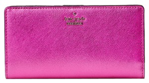 Kate Spade Cameron Street Metallic Stacy Bajarose Bifold Wallet