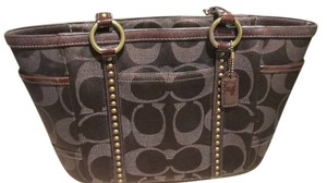 Coach Canvas Satchel in Brown