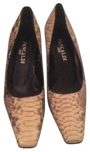 Pancaldi brown/ cream Pumps
