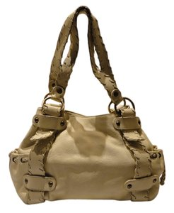 Kooba Leather Magnetic Closure Stitching Hobo Bag