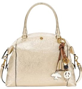 Tory Burch Satchel in gold sparkle