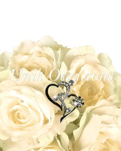 Unik Occasions Bouquet Jewelry - Angled Double Hearts