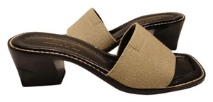Donald J. Pliner J Black & Beige Sandals