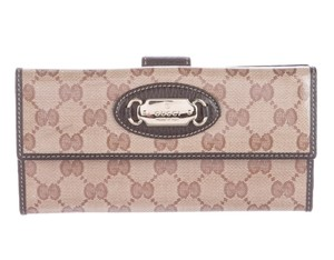 Gucci Brown Guccissima monogram canvas Gucci Crystal Continental wallet