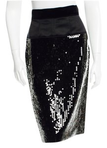Dolce&Gabbana Sequined Pencil Skirt Black