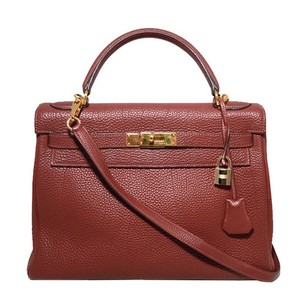 Hermès Kelly 32 Togo Leather Birkin Red Tote