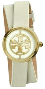 Tory Burch REVA DOUBLE-WRAP WATCH, IV ORY LEATHER/GOLD-TONE, 28 MM