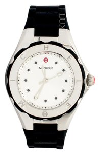 Michele Petite Tahitian Jelly Bean Topaz Silver Tone Black Watch