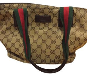 Classic Gucci bag Tote in Brown/green/red