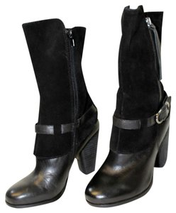Kensie Leather Suede Black Boots