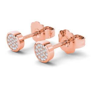 Elizabeth Jewelry 10Kt Rose Gold 0.10 Ct Diamond Stud Earrings