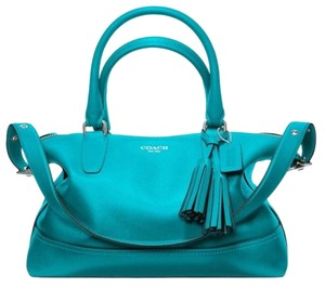 Coach Satchel in Tourmaline Turquoise Jade Blue