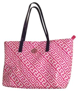 Macbeth Collection Tote in pink white blue