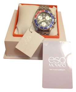 ESQ Movado NEW ESQ Movado Model # 07300512 750-ME-SS-ROU-BLU-SS Watch
