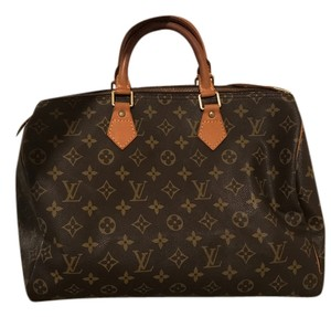 Louis Vuitton Satchel in Brown and Luggage