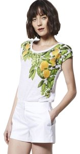 MILLY Designation Dolce & Gabbana T Shirt White with Yellow Lemon Print