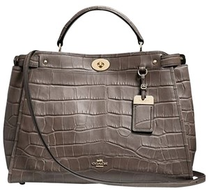 Coach Satchel in Grey/Taupe