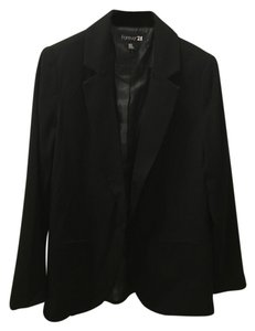 Forever 21 Office Boyfriend Black Blazer