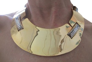 ERICKSON BEAMON AERIN NWOT VINTAGE ERICKSON BEAMON 24K GP AERIN STATEMENT COLLAR NECKLACE