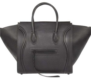 Céline Phantom Luggage Phantom Tote Satchel in Black
