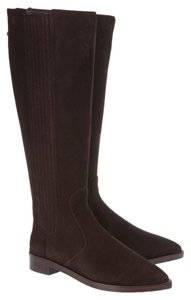 Tory Burch Pointy Toe Suede Brown Boots