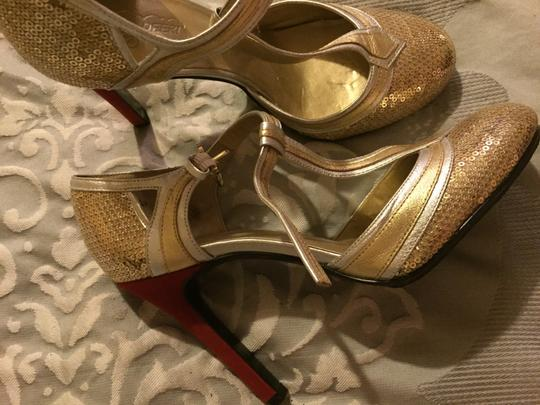 Oh Deer! Gold with red Sandals