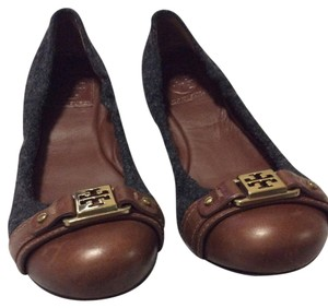 Tory Burch black/ brown Flats