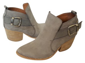 Jeffrey Campbell Jonas Buckle Western Light Grey Boots