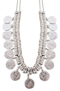 Lucky Brand 60% OFF! BRAND NEW Silver-tone Shaky Coin Frontal Necklace