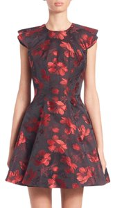 Alexander McQueen Jacquard Party Date Night Fit And Flare Valentine's Day Dress