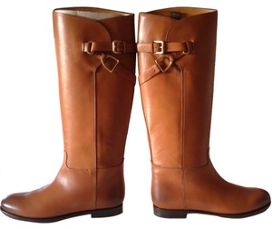 Ralph Lauren Collection Equestrian Leather Brown Boots