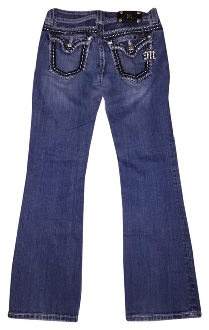 Preload https://item4.tradesy.com/images/miss-me-boot-cut-jeans-dark-rinse-2040763-0-4.jpg?width=400&height=650