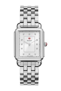 Michele Authentic deco II silver watch