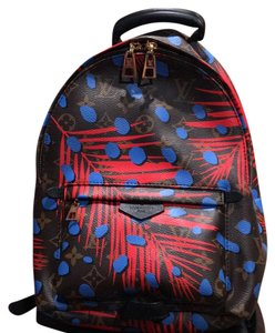 Louis Vuitton Palm Springs Backpack PM MNG Jungle Poppy Collection Blue Backpack