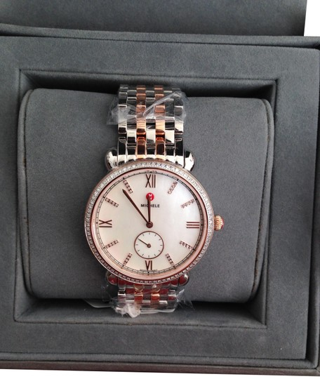 Preload https://img-static.tradesy.com/item/20408424/michele-multicolor-rosegoldsilver-gracile-rose-gold-and-silver-watch-0-3-540-540.jpg