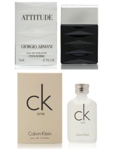 Giorgio Armani Giorgio Armani and Calvin Klein Mini Fragrance Variety For Men