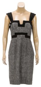 Black Halo short dress Gray/Black on Tradesy