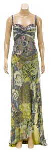 Green/Blue/Pink Maxi Dress by Alberto Makali